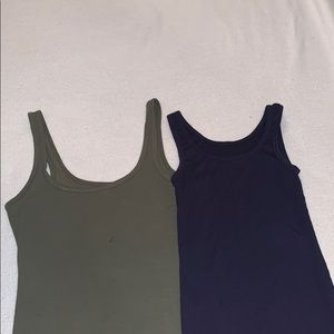 Free w any other purchase! Green and blue tanks